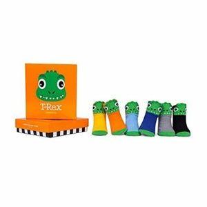 0-12 Months Trumpette T-Rex Dinosaur Sock Set (6)